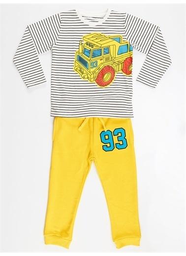 Denokids 93 Kamyon Erkek Çocuk Pantolon Takım Renkli